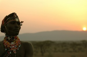 Samburu at sunset